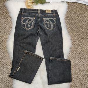 COOGI Womens Dark Grey Jeans